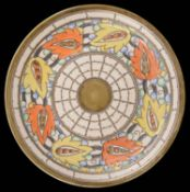 An Art Deco Bursley Ware Charlotte Rhead pottery charger; other (2)