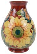 A modern Moorcroft Pottery Inca pattern vase designed by Rachel Bishop