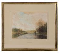 Thomas William Hammond (British, 1854-1935) 'River view', pastel