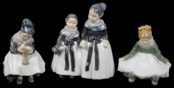 Three Royal Copenhagen porcelain figures (3)