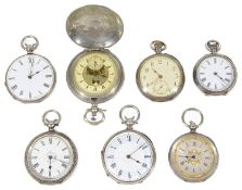 A Swiss .800 silver full hunter pocket watch for the Turkish market; others (7)