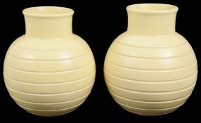 A pair Wedgwood buttermilk vases designed by Keith Murray c.1930 (2)