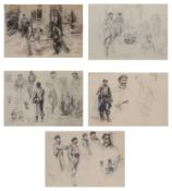 Dominique Charles Fouqerary (1869-1956) WW1 sketches of soldiers (5)