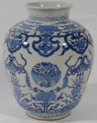 A Chinese 19th Century blue and white porcelain vase