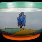 A Clarice Cliff Bizarre Woodland pattern circular bowl
