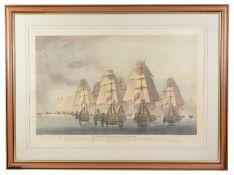 After Robert Dodd (1748-1816) 'Battle of Trafalgar' aquatint