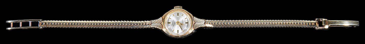 A ladies 14 carat gold Rotary wristwatch
