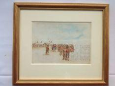 Late 19th/20th century British School, a watercolour sketch