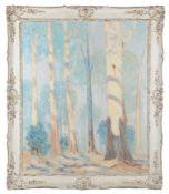 William Francis Longstaff (Australian, 1879-1953) 'Gum trees'