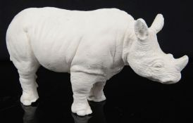 Sir Eduardo Paolozzi (Scot.1924-2008) 'Rhinoceros' a plaster cast sculpture, signed and dated 1989