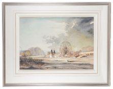 Rowland Hilder (British,1905-1993)'Winter Kent landscape', watercolour