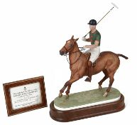 Royal Worcester equestrian model of H.R.H. The Duke of Edinburgh on his polo pony numbered 46/750