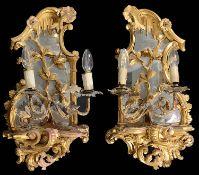 A pair of George III giltwood girandoles (2)