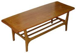 A 1960s Danish teak coffee table