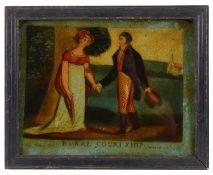 A Regency reverse glass mezzotint, published June 17 1807