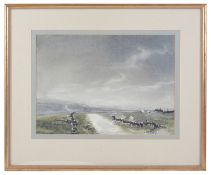 Ashley Jackson (British, b.1940) 'Isle of Skye, Yorkshire',watercolour