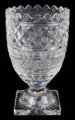 A large Waterford crystal vase