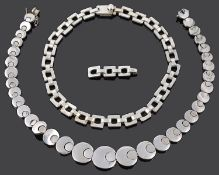 A Taxco modernist Mexican silver hinged necklace by Salvador Juller Garcia (2)
