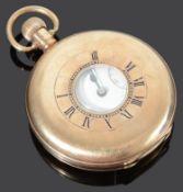 A 9ct gold half hunter pocket watch