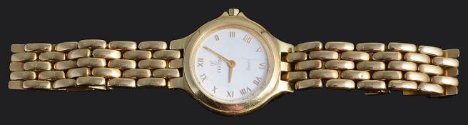 A contemporary 18ct gold ladies Festina wristwatch