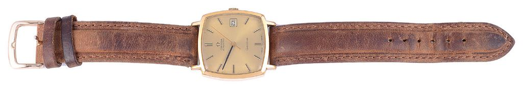 A 1970s gentleman's Omega gold plated wristwatch