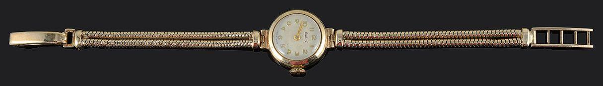 A 9ct gold Audax ladies bracelet watch