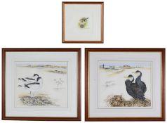 Ian Bowles (Brit., 1946-2018) 'Cormorants-The Estuary', signed; others