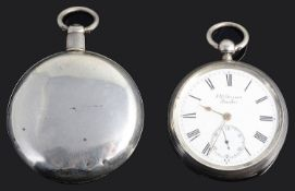 George III silver full hunter pocket watch; Vict. J.W. Benson 'The Ludgate' open faced pocket watch