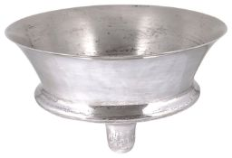 A modern Mexican silver footed bowl,