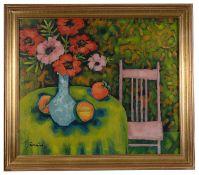 Vernon E. Dornbach (American, 1920-2002) 'Poppies', oil on canvas