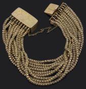 A Victorian multi chain wrist bracelet