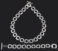 An Elsa Pirretti for Tiffany silver necklace and bracelet