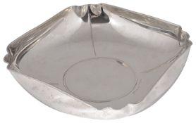 A contemporary Italian .925 silver square dish