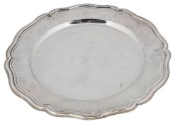 A 20th century Italian .800 silver serving plate