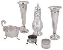 A collection of Edwardian and later silver