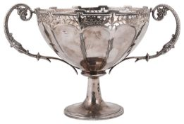 An Edward VII silver twin handled trophy cup