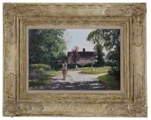 Clive Madgwick R.B.A. (1934-2005) 'Assington Green, near Newmarket'