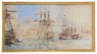Charles Edward Dixon (Brit., 1872-1934) watercolour and gouache