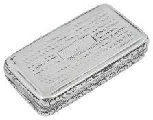 A George IV silver snuff box