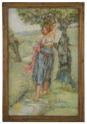 Noel Laura Nisbet (Brit. 1887 - 1956) 'Female musician', watercolour