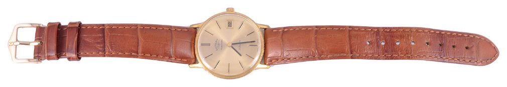 A gold plated Rotary Automatic wristwatch; a stainless steel Tissot Visodate Seastar wristwatch