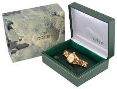 A ladies 18ct gold Rolex Perpetual Datejust Superlative Chronometer wristwatch Ref 79178 c.2000