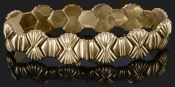An attractive Continental Art Deco style articulated bracelet