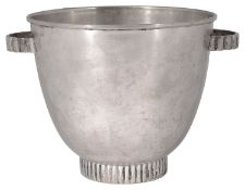 An Italian Art Deco .800 silver twin handled ice pail c.1935