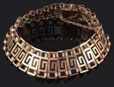 A Continental 18K rose gold bracelet, circa 1940
