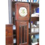 Lot 94 - MAHOGANY 1930s LONGCASE CLOCK WITH WESTMINSTER CHIME