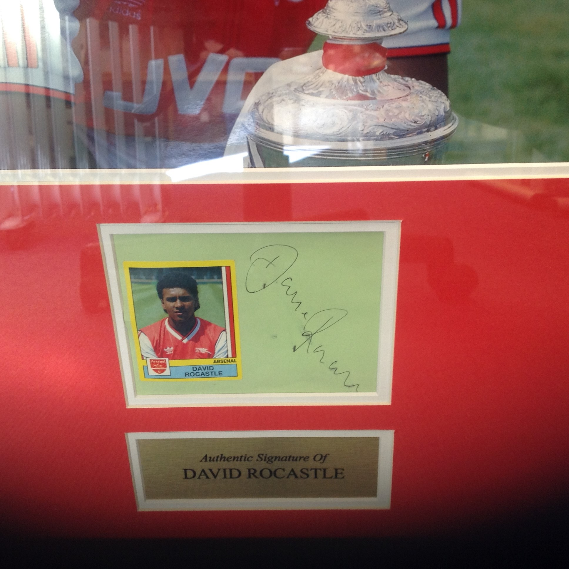 Lot 47 - Football David Rocastle 21x18 approx mounted and framed signature piece. David Carlyle Rocastle