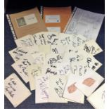 Lot 18 - Cricket collection over 50 signatures from international and county players includes Bob Willis,