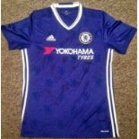 Lot 38 - Football Chelsea signed home shirt signed by sixteen of the current and recent squad some great