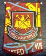 Lot 54 - Football West Ham Pennant signed by 8 current squad members includes Mark Knoble and Winston Reid.